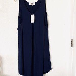 ANGEL MATERNITY SLEEVELESS NAVY BLUE DRESS